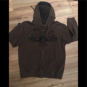 Vintage 1986 Vans Sweatshirt Zip up Hoodie